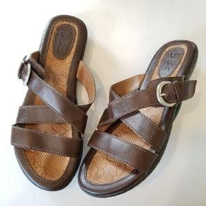 BOC Born Slip Sandals Brown Buckle Slipons